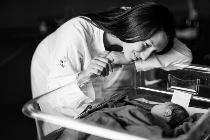 Nyföddfotografering på BB, Rebecca Wallin