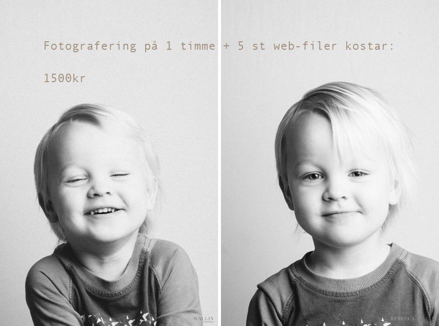 pris barnfotografering