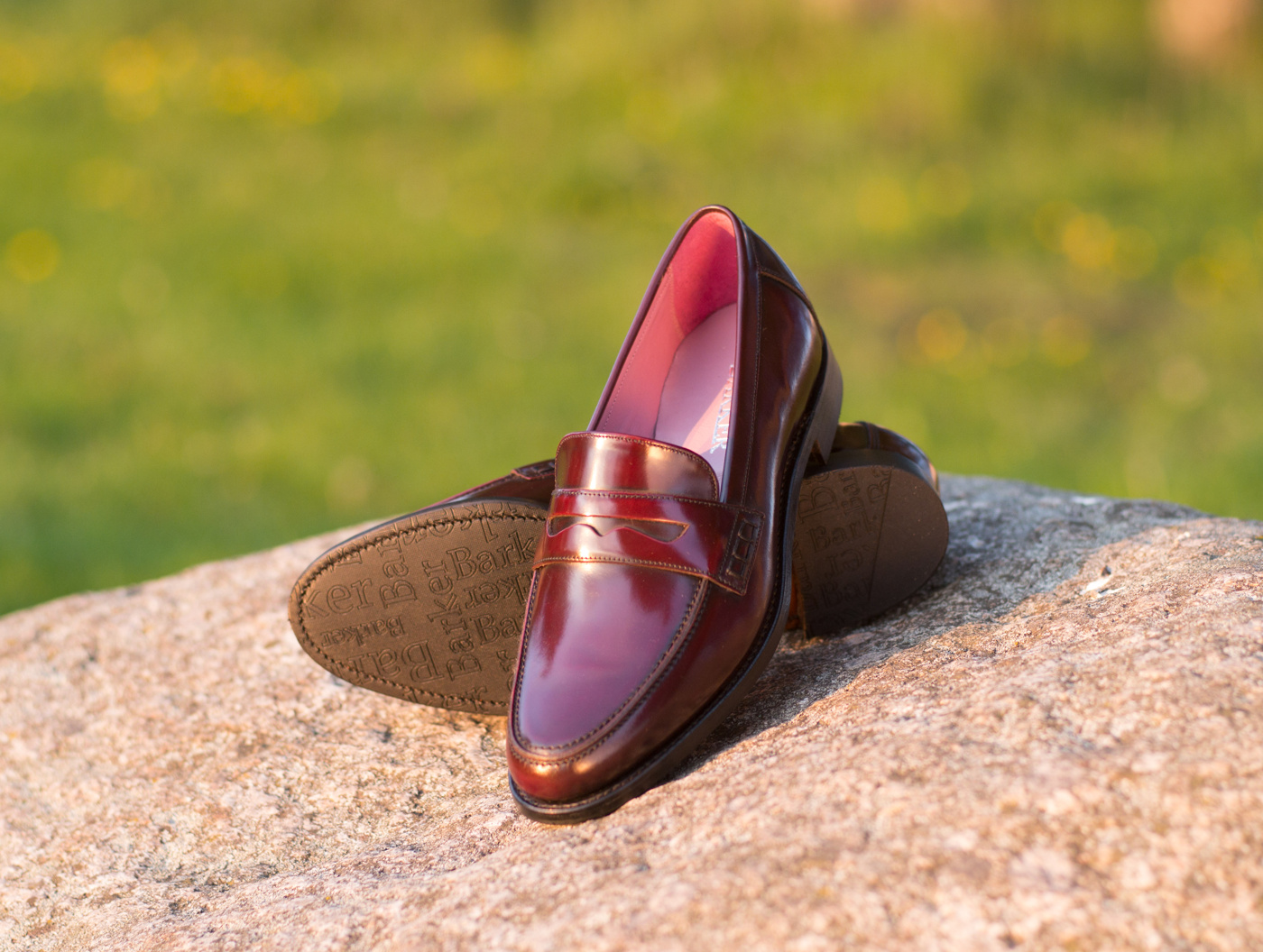 Barker Burgundy Loafer