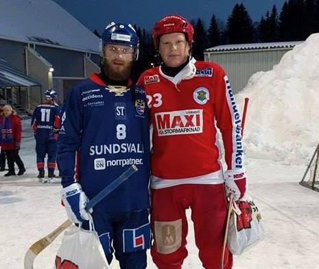 Skägget och den alltid lika luriga Niklas Norevik plockade pris från YP profilkläder som matchens lirare.