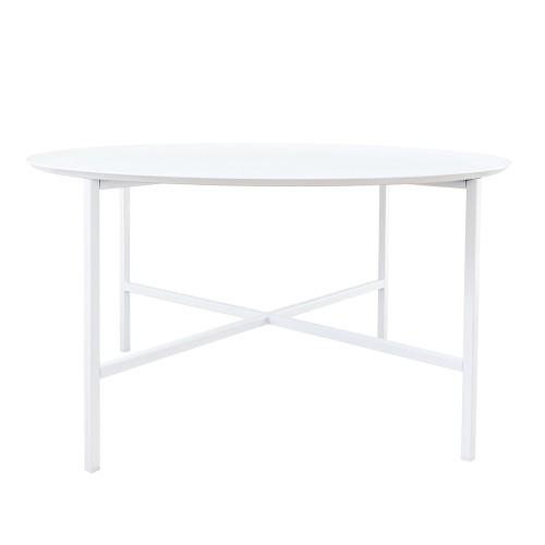 Domo round cross table White