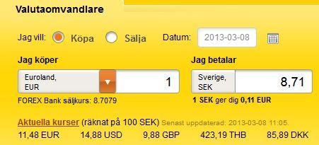 Forex euro till sek forex форекс в банке