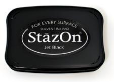 Tsukineko - StazOn Pad - Jet Black (Beställningsvara)