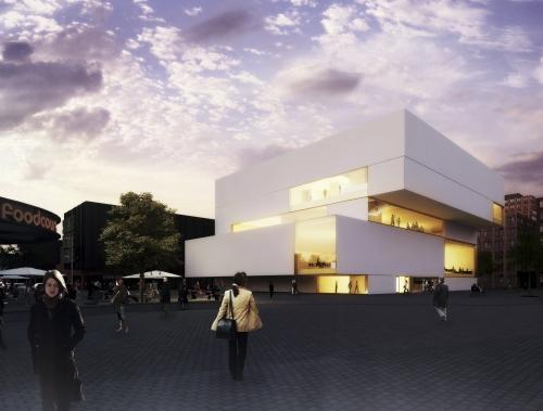 Projektet i Almere - kommer att se ut så här när det är färdigt. Tre våningar - ett annorlunda 2521 projekt med andra ord.