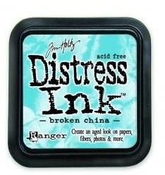 Distress ink brocken china