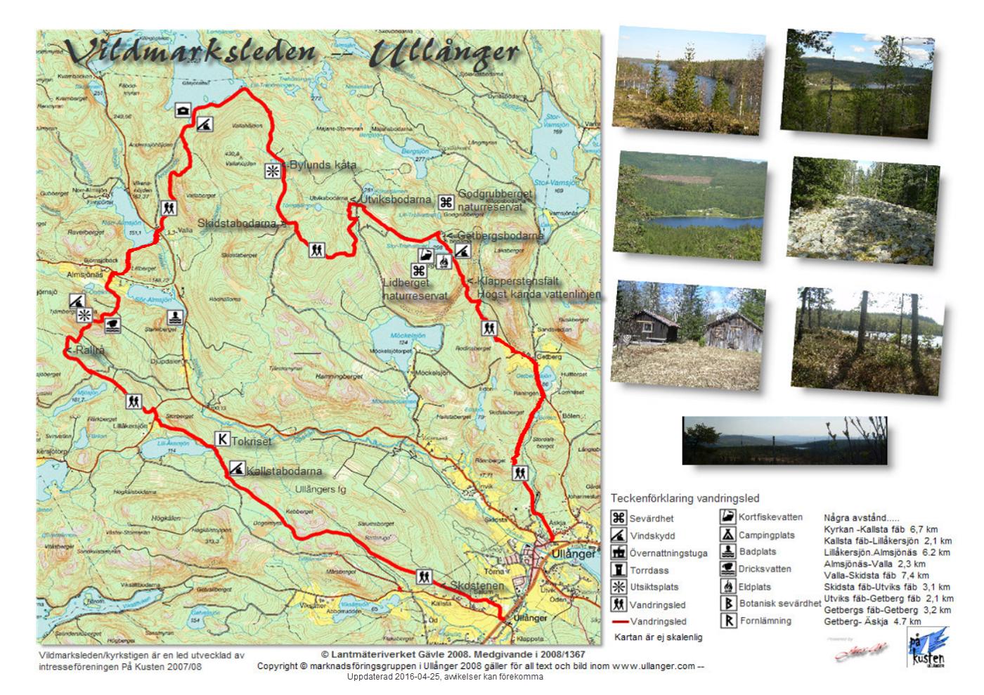 karta ullånger Karta över Vildmarksleden. | Ullånger karta ullånger