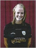 Lotta Schelin fick ta emot priset som Årets Nykomling på Fotbollsgalan 2004.
