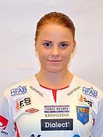 Nyförvärvet Emelie Helmvall gjorde hela fem utav målen i fredagens kross.