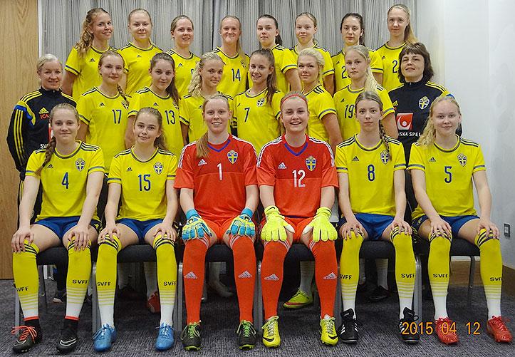 Svenska F16-landslaget. Bild lånad från SvFF. 0f896e1a01612
