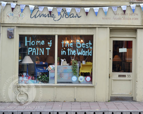 Annie Sloan´s inspirerande shop i Oxford, 33 Cowley Road.