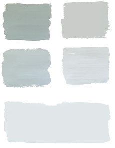 Duck Egg Blue blandad med Old White