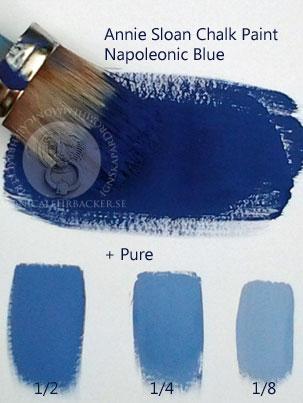 Naoleonic Blue uppljusad med Old White