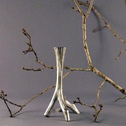 Ljusstake Gren Aluminium 17 cm