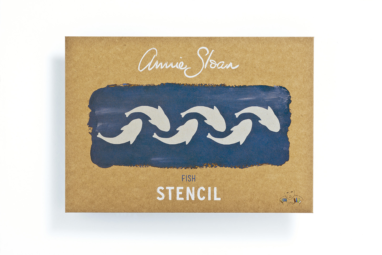 Annie Sloan Stencil Fishes