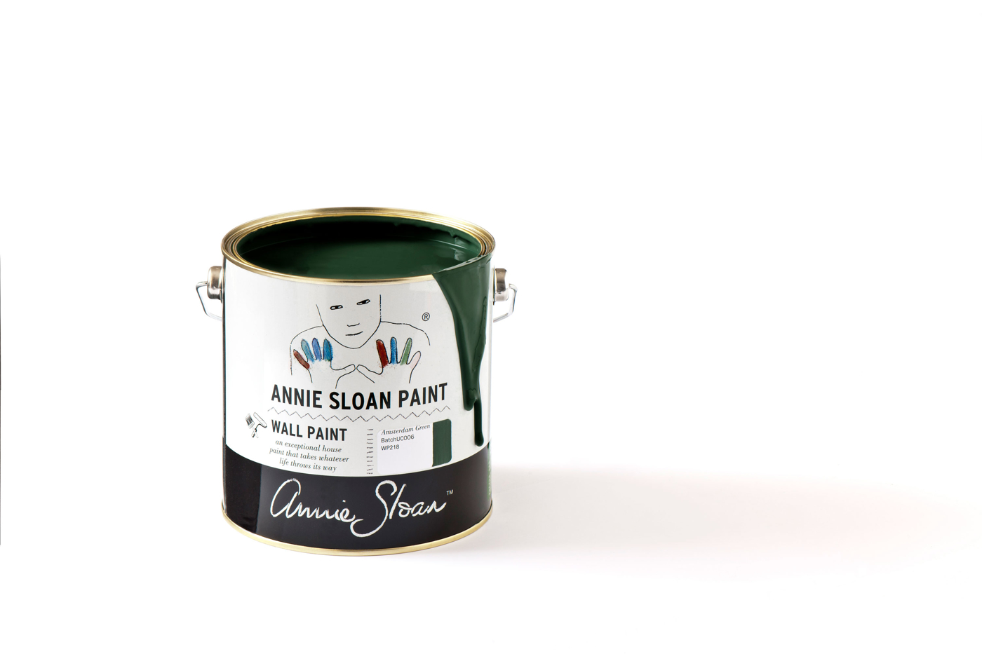 Väggfärg Annie Sloan Wall Paint Amsterdam Green
