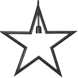 Adventsstjärna i lantlig stil, svart trä.