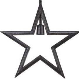 Svart stjärna i lantlig stil.