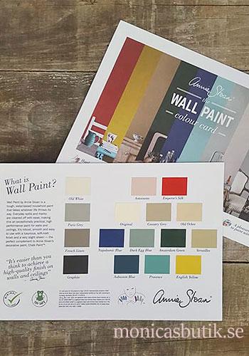 Färgkarta Annie Sloan väggfärg, Wall Paint för alla väggar.