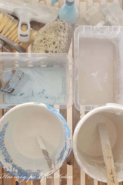 French Linen, Aubusson och Old White Chalk Paint™ mixas.