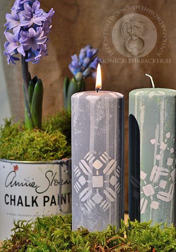 Med Annie Sloan Paint kan du måla på allt, även på stearinljus.