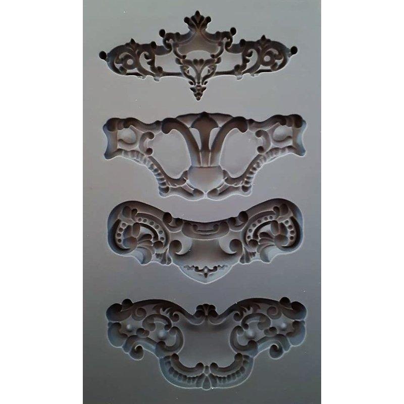 Iron Orchid Designs Dekorform i latex för ornament Royale