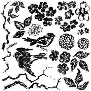 Iron Orchid Designs Birds Branches Blossoms