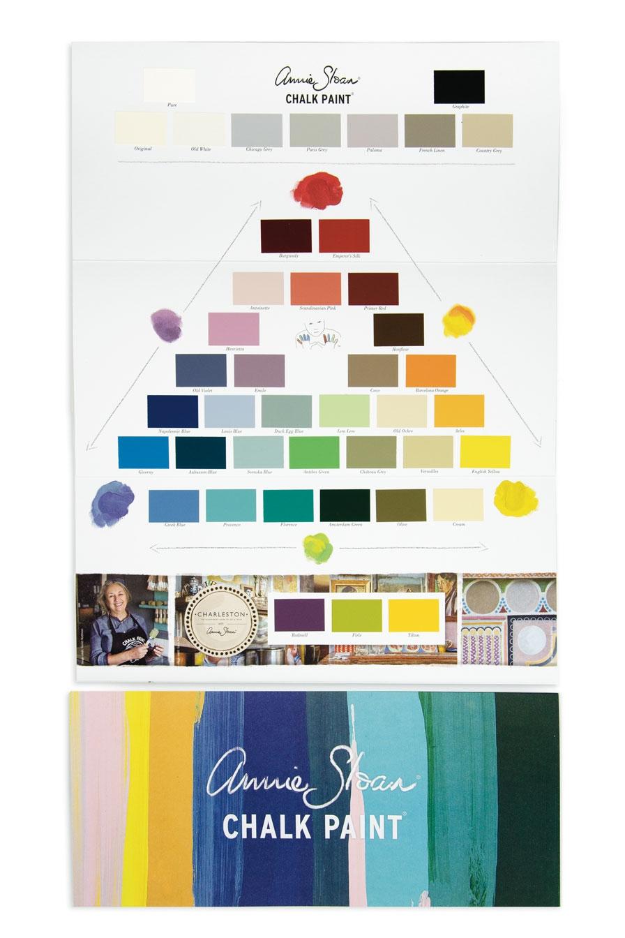 Annie Sloan Chalk Paint färgkarta färgfolder med alla kulörer