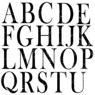 IOD Dekorstämpel bokstäver