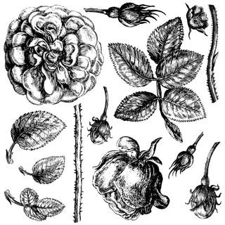 IOD Dekorstämpel Lady of Shalott, vackra blommor gör dina möbler till konstverk