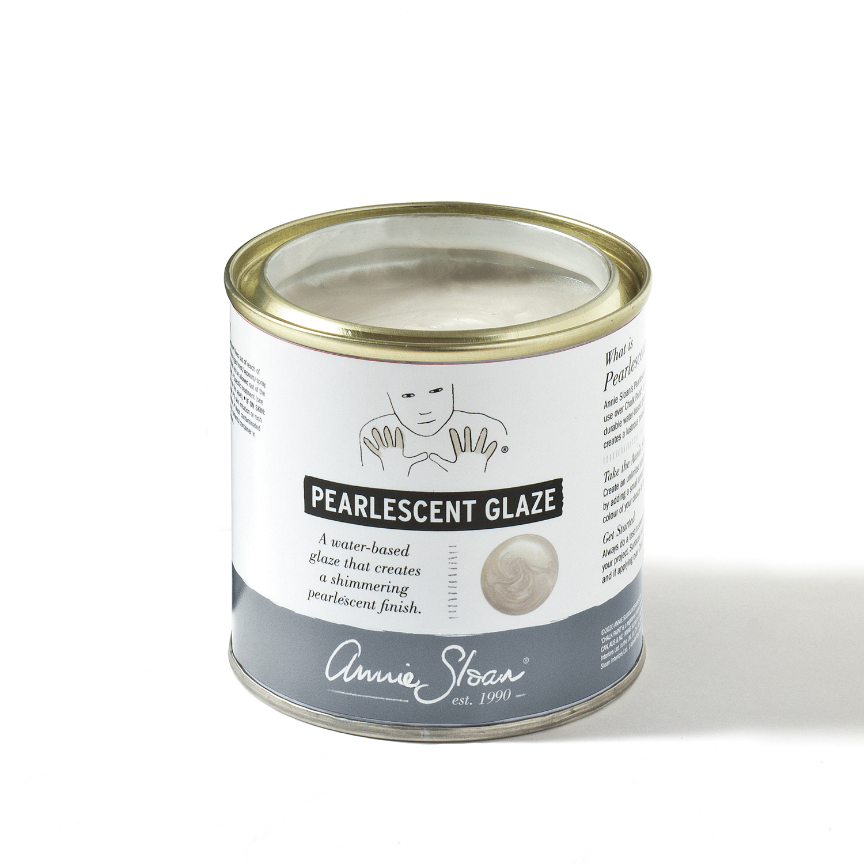 Pearlescent Glaze pärlemorlyster & skimmer på möbler, ny Annie Sloan produkt