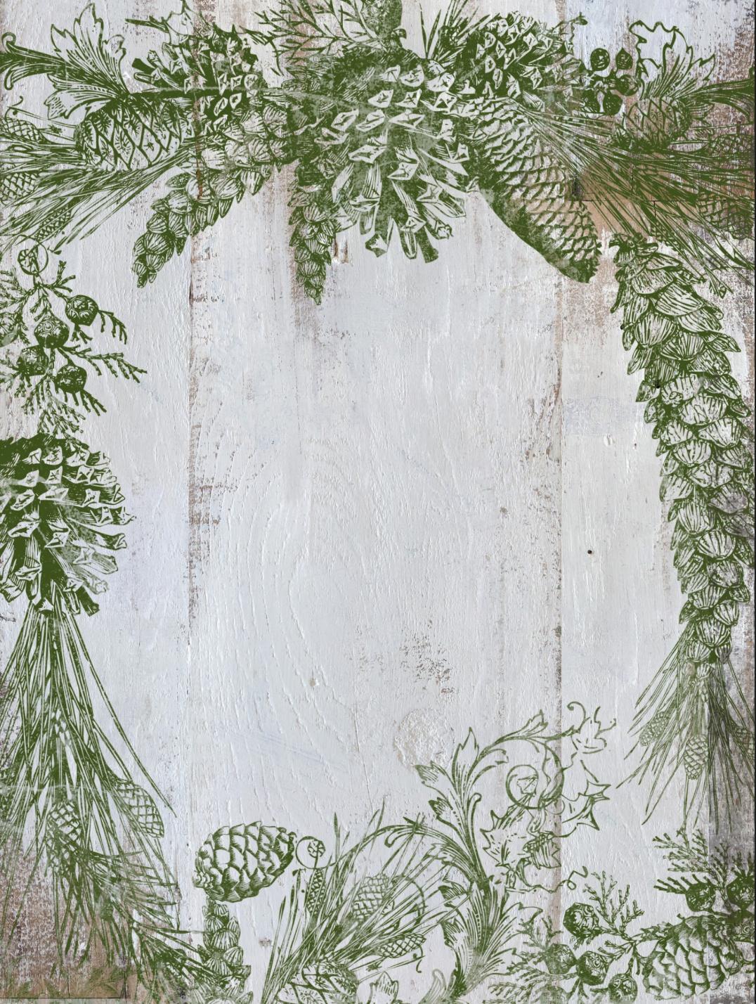 IOD Dekorstämpel Evergreen i Monicas Butik