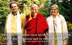 Peter and Anne (Mundekulla) meet with Dalai Lama, 2002