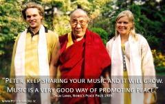 Peter and Anne (Mundekulla) meet with Dalai Lama, 2002
