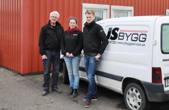 Staben på JS Bygg består av Göran Ågren, Annika Segerhagen och Carl-Fredrik Segerhagen.