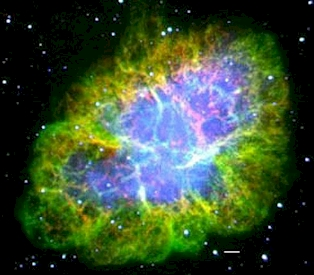 Crab Nebula: Chandra röntgen teleskop