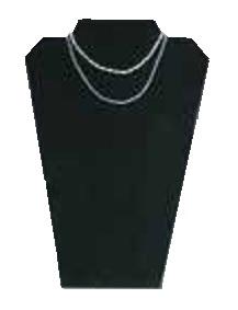 Halssmyckesdisplay, svart sammet, 1 st - Halssmyckesdisplay, svart sammet, 1 st