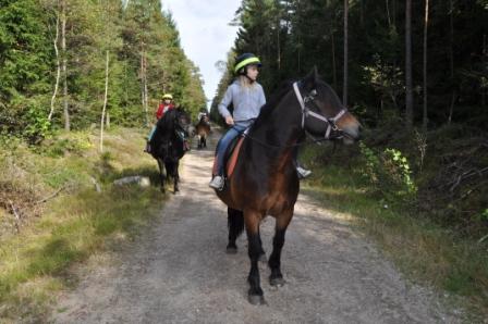 Ridning på bolmenbanan, Simlångsdalen
