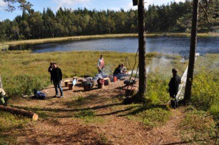Måbra dag ute vid stugan och i skogen, Simlångsdalen