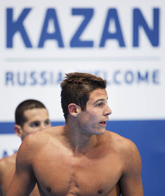 Christoffer Carlsen simmade 50m fjärilsim i morse