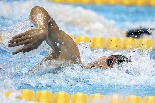Kosuke Hagino leder 200m medley herrar