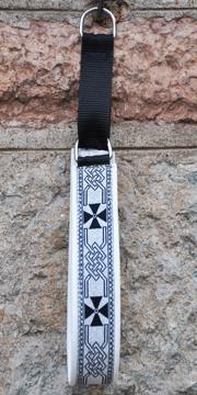 Keltisk kors silver-svart Bredd 4 cm