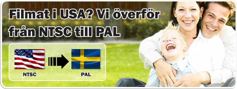 HTSC till PAL. Överför USA Amerikanska videoformat till Svenska
