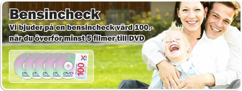 VHS till DVD. Hi 8 till DVD. Video 8 till DVD. Ljudkassett till CD. Smalfilm till DVD. Smalfilm till hårddisk.