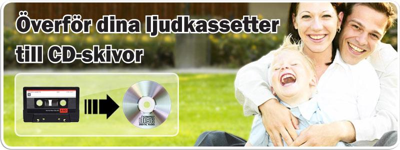 Överföra Ljud kassettband till CD hos Familjefilm.se