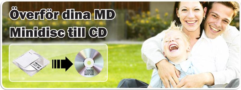Överför MD Minidisc till CD och hårddisk till digital