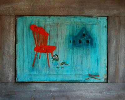 THE WINDSOR CHAIR Oil/ canvas 45x 50 cm