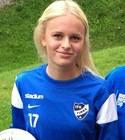 Linnéa Jensen gjorde två av Timrås mål i Brunflo, ett ribba in!