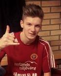 Alnös Adam Johansson följde upp förra omgångens två mål med ett hattrick idag.