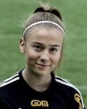 Lisa Hansen gjorde ett av SDFF:s mål i Hudik.
