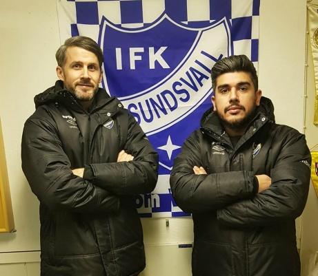IFK Sundsvalls spelande tränare Olle Nordberg och Claudio Moraga gjorde två att de tre målen borta mot Matfors 2.